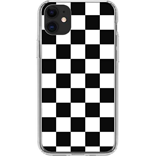 Skinit Clear Phone Case for iPhone 11 - Officially Licensed Originally Designed Black and White Checkered Design