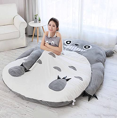 FBRNYQPM Colchón Tatami Totoro Bolsa de Dormir Perezoso Sofa Cama, Dibujos Animados Doble Idividual Colchón Calentar Suave Casa Plegable Cómodo y Transpirable,001,170 * 220