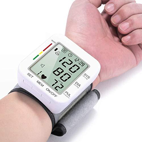 Blutdruckmessgerät für Zuhause, Handgelenk Blutdruckmessgerät, Blutdruckmessgerät, Blutdruckmessgeräte mit Sprachübertragung, große LCD BP Monitore mit Handgelenkmanschette, BP Maschinen