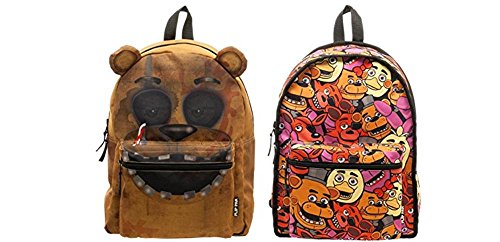Five Nights at Freddy Fazbear and characters Reversible Full Size Backpack
