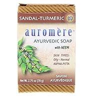 オーロメア (Auromere) アーユルヴェーダ 石鹸/サンダルターメリック 78g