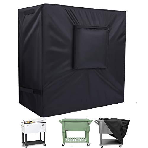 SIRUITON Cooler Cart Coque Polyester Oxford extérieur étanche Cooler Coque Noir 95 x 92 x 50 cm