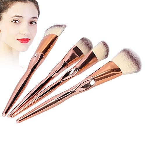 Juego de 4 brochas de maquillaje, Start Makers base profesional corrector en polvo rubor brocha de maquillaje juego de herramientas de belleza juegos de brochas elegantes para niñas