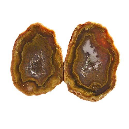 Ravishing Impressions Jewellery Natural Geode Druzy Par Gemstone, Tamaño 22x15x5 MM Pendiente Piedra, Geoda Mexicana Druzy, Druzy Rough Parair, Druzy Nodule, Baby Tobasco AG-15680
