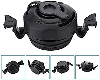 HUAFY Inflatable Air Valve Screw Plugs Replacement Intex Mattress Cap,3 in 1 Air Valve Secure Seal Cap for Intex Inflatable Airbed Mattress Black,Sturdy and Anti-Corrosion