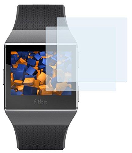 mumbi Schutzfolie kompatibel mit Fitbit Ionic Folie klar, Bildschirmschutzfolie (2X)