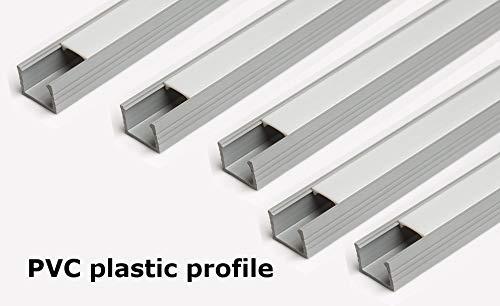 5x 2m LED grau Profile 16x 11mm Profil 2Maßband Profil für LED aus PVC