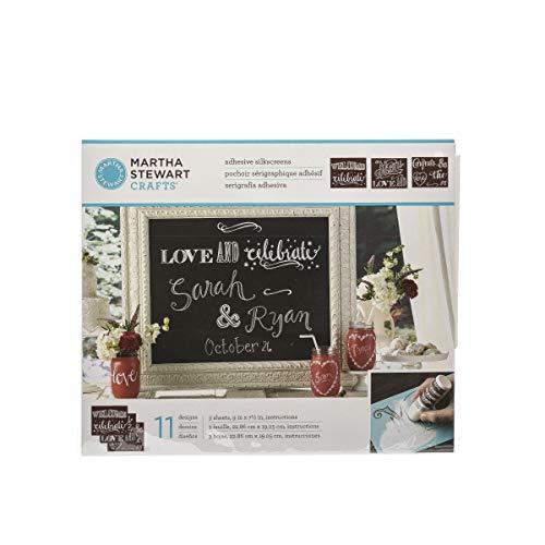 Martha Stewart Crafts 33551 Martha Stewart Chalkboard Silkscreens, Phrases