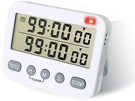 Dual Kitchen Timer Digital Timers for Cooking MECHEER 2 in 1 Egg Timer Time Timer Clock Pomodoro product image