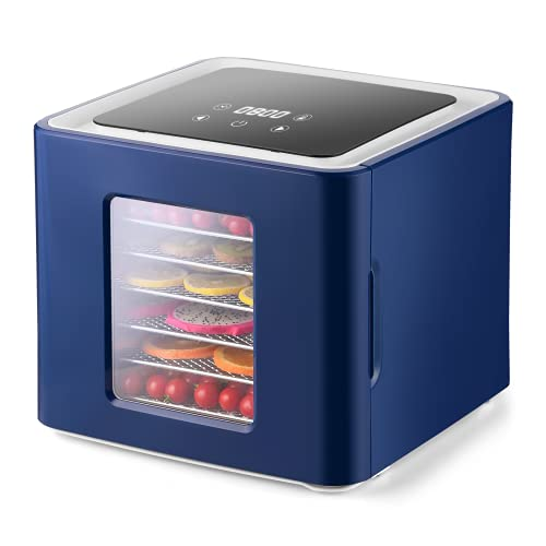 D'amour Dehydrators for Food and Jerky, Electric Drying Food Dehydrator Machine for Yogurt, Meat Jerky, Herb, Fruit, Vegetable and Dog Snack
