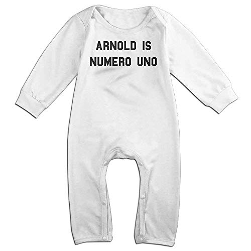 TOPDIY Arnold Is Numero Uno Long Sleeve Baby Romper Playsuit Outfits