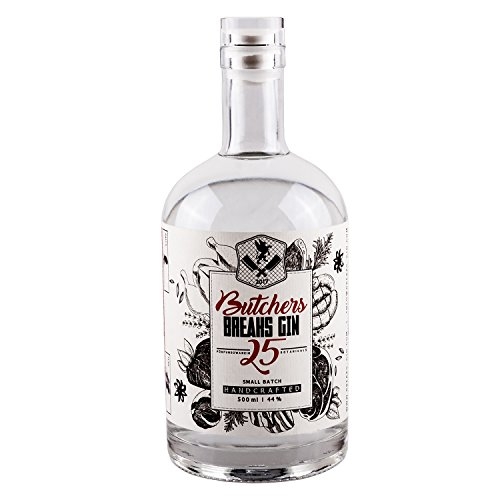 Breaks BUTCHERS Gin 25, Handcrafted in Karlsruhe, Sonderedition, 44% vol., 500 ml Flasche