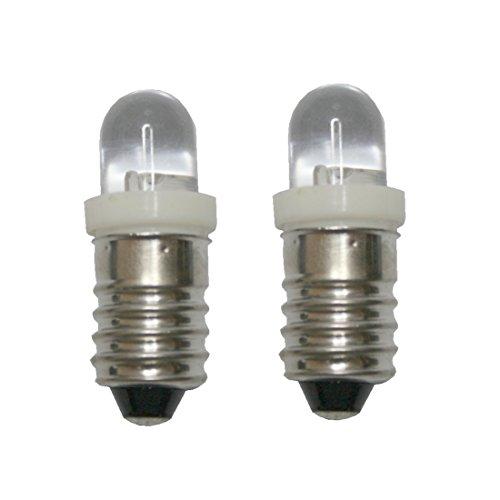 B2Q LED Glühlampe Glühbirne E10 4,5V weiß 2 Stück (8017)