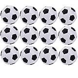 SUSHAFEN 12Pcs Mini Soccer Balls Foosball Plastic Black&White Table...