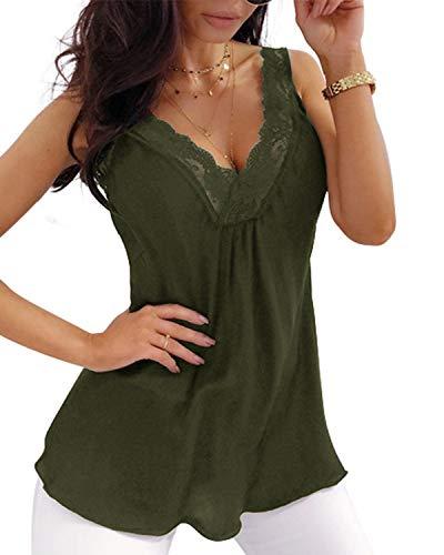 CNFIO Camisetas Sin Mangas para Mujer Tank Top Cami Mujer Shirts Verano