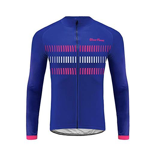 Uglyfrog Neue Sport im Freien Klassik Polyester Fahrradtrikot Frühling Herren Gemütlich Langarmtrikot Radfahren Jersey Triathlon Bekleidung