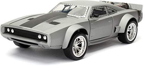 Jada Toys – Dodge Ice Charger – Dom – Fast and Furious 8 – Maßstab 1:24 – Grau – 98291S