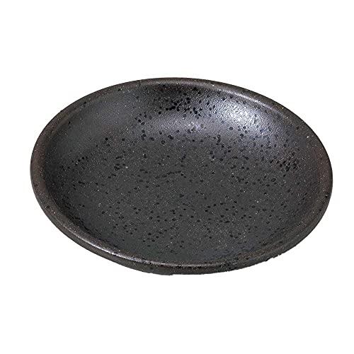 小皿 醤油皿/ 黒伊賀玉渕3.0皿 /刺身 お新香 梅干し 珍味 陶器 業務用 家庭用 Small sized Plate