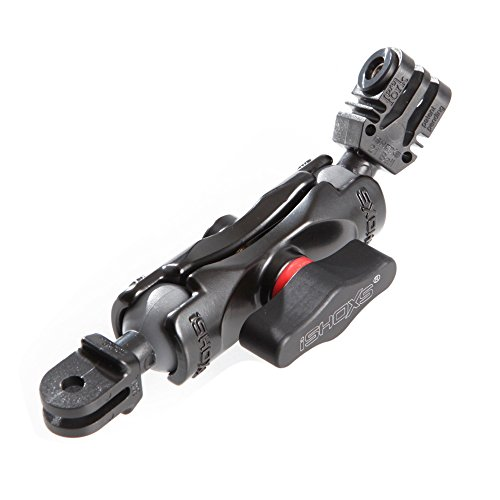 iSHOXS Small Grab Basic 60, Flexible Verlängerung aus Aluminium passend für GoPro kompatible Kamera-Halterungen - Kugelköpfe aus Kunststoff