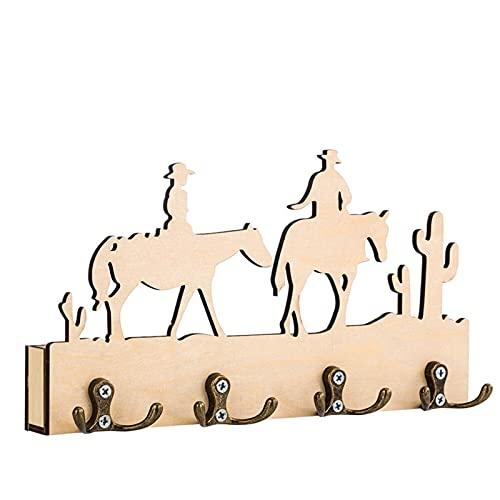 sararui percheros Pared Decoración for el hogar Ganchos de Almacenamiento Titular Creativo Grabado Arte Silueta Llavero Llavero Sundries Almacenamiento Colgante Organizador percheros Pared Modernos