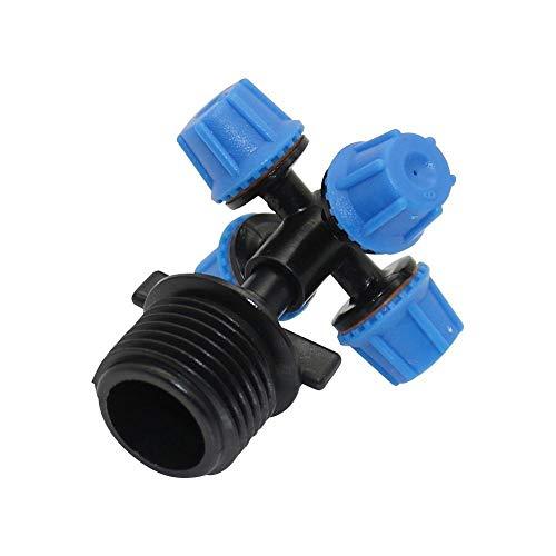 ZXCVB Aspersores de atomización Cruzada de 360 Grados y 6 mm con Conectores de Rosca Macho de 1/2 Pulgadas boquillas de nebulización de refrigeración de riego de jardín