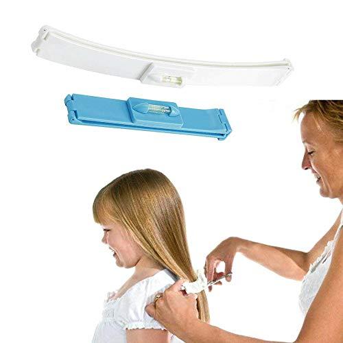 Schneidehilfe Pony Haarschneide Hilfe Clips (Blau)