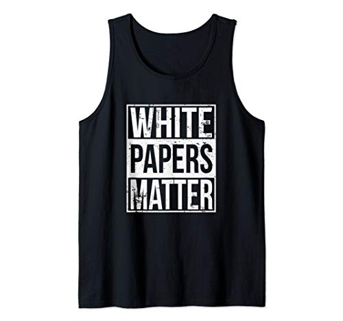 White Papers Matter Funny Bitcoin Altcoin ICO Investor Tank Top
