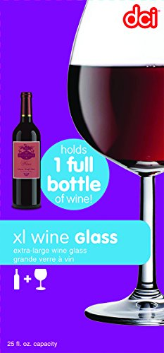 DCI XL Wine Glass, Holds a Whole Bottle of Wine