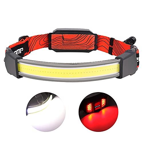 40 COB LED faros delanteros nuevos portátiles de iluminación para pesca luces de funcionamiento linternas linternas (juego A - incorporado 1000 mAh (USB Cherging))