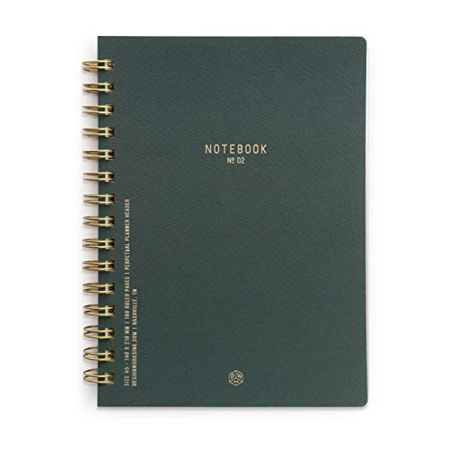 DesignWorks Ink Textured Paper Twin Wire Bound Notebook No. 2, Pacific Forest