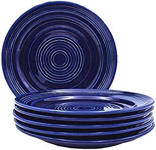 Tuxton Home THCCA104-6B Concentrix Dinner Plate, 10.5-Inch, Cobalt Blue