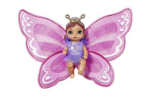 Zapf Creation 904343 BABY born Surprise Wings Serie 5, Mini Püppchen mit Flügeln und Trink- und Pipi-Funktion, inklusiv Zubehör - Charakter nach Vorrat