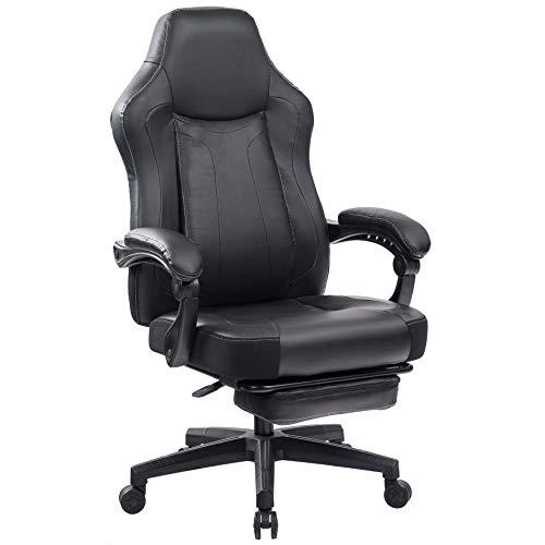 Kasorix Burostuhl mit Automatisch Gekoppelten Armlehnen Chefsessel Schreibtischstuhl Ergonomisch mit 2 Jahren Garantie Drehstuhl Gaming Stuhl Schwarze Last bis 150 kg