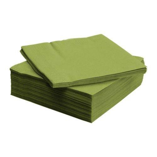 Ikea Fantastisk - Tovaglioli di carta a 3 strati, 40 x 40 cm, 50 pezzi, colore: Verde