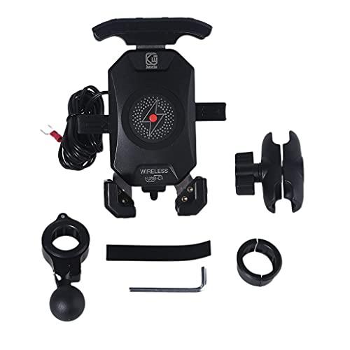 360 rotación motocicleta teléfono inalámbrico cargador Qi 18 W carga simultáneamente para la mayoría de teléfonos móviles montajes