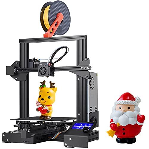 Nvlifa Creality Impresora 3D Ender 3, DIY FDM Impresora 3D, Grande 3D Printer for TPU, PLA, ABS 220 * 220 * 250 mm Apto para Principiantes (Ender 3)