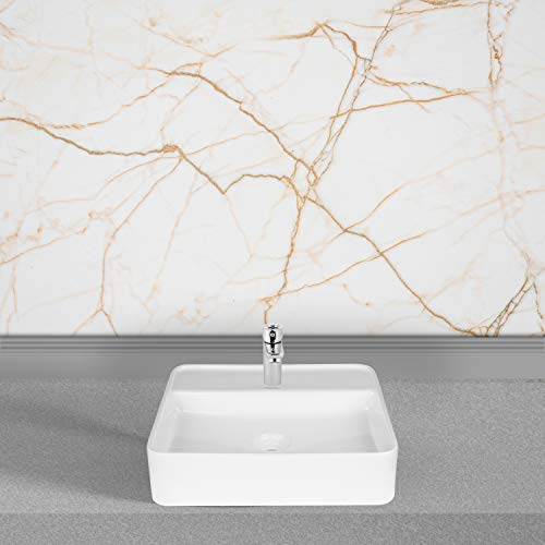 Hindware Edge 45S Table Top Wash Basin with Single Faucet Hole (Star White)