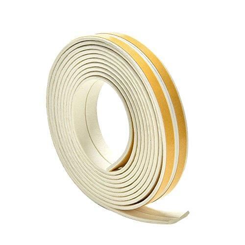 Fensterdichtung Dichtband Profildichtung Gummidichtung Türdichtung EPDI Dichtung, Auswahl - I 9x2mm Weiß
