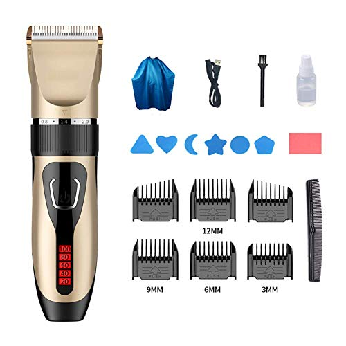 Mannen Professional Hair Clippers, Hair Trimmer Beard Trimmer Keramische Cutter Head, Cordless Men's Grooming Kit, USB oplaadbare Blue 19x4.5cm (7.5x1.8inch) HRSS