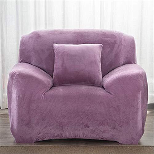 FSYGZJ Funda de sofá de Felpa Espesa, Funda de sofá elástica para Silla, Funda de sofá Resistente a Las Manchas con Protector de sofá de Muebles con Fondo elástico, Color Morado.1 Asiento 90-140cm