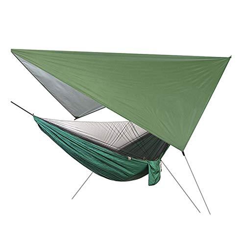 Qagazine Hamaca de camping, ultraligera para viajes al aire libre con red automática de apertura rápida Hamaca Set exterior tienda de campaña para acampar senderismo mochilero