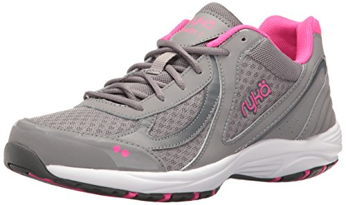 Ryka womens Dash 3 Walking Shoe, Grey/Pink, 8.5 US