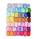 Healifty 50 Farben Nadelfilz Kit Wollfilz Werkzeuge Wollfilz Werkzeuge Nadelfilz Starter Kit Diy Wollfilz Handwerk Machen -