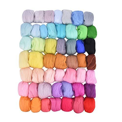 Healifty 50 Farben Nadelfilz Kit Wollfilz Werkzeuge Wollfilz Werkzeuge Nadelfilz Starter Kit Diy Wollfilz Handwerk Machen