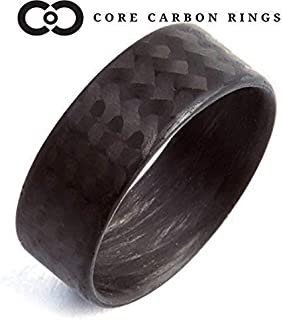 Men`s or Women`s 100% Carbon Fiber Twill Matte Ring - Handcrafted -Lightweight - Black Band - Custom Band widths
