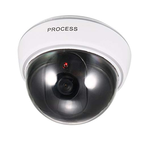 Check Out This uxcell Fake Security Camera Dummy Dome CCTV with Blinking Red LED Warning Alert Light...