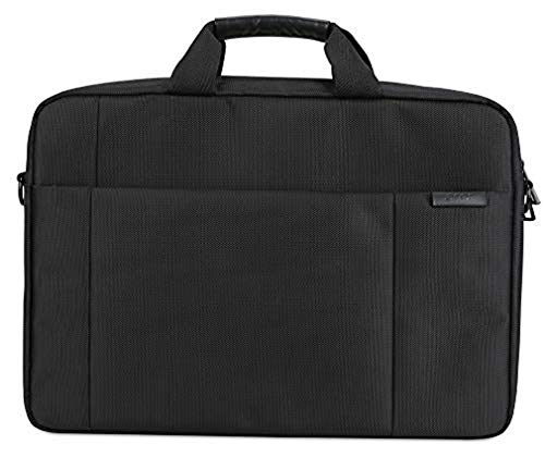 Acer Notebook Carry Hülle (geeignet für bis zu 15,6 Zoll Notebooks / Chromebooks: Universelle Schutzhülle mit Schultergurt, - & polsterung, Gurt zum Befestigen an Trolley, extra Fronttasche) schwarz
