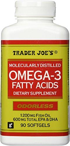 Trader Joe's Omega-3 Fatty Acids 1200mg Fish Oil, 90softgels, Odorless