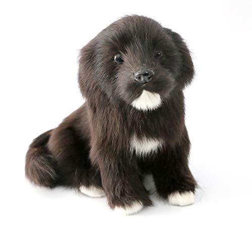 BYSTE9 Figura de Peluche Labrador de Peluche 17 cm, Negro, Animales de Peluche, Mejor Regalo para Niños, Chicos, Parejas, Acción de Gracias
