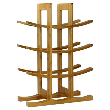 natural bamboo wine rack